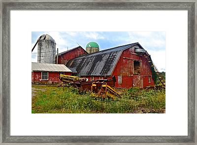Make Hay While The Sun Shines Framed Print by Frozen in Time Fine Art Photography