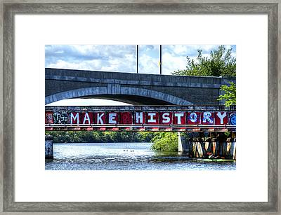 Make History Boston Framed Print