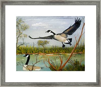 Framed Print featuring the painting Make Room For Daddy by Al  Johannessen
