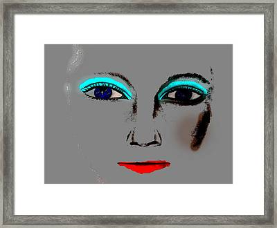 Framed Print featuring the drawing Make Up Digital Painting By Saribelle Rodriguez by Saribelle Rodriguez