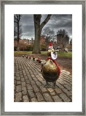 Make Way For Ducklings - Boston Framed Print by Joann Vitali