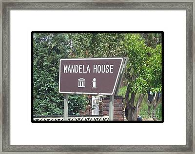 Make Your Heart Mandela House  Framed Print by Barbie Corbett-Newmin