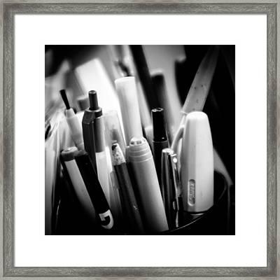 Make Your Mark Framed Print by Joe Scott