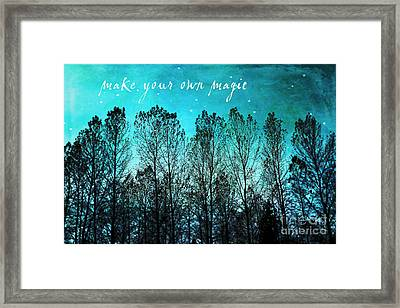 Make Your Own Magic Framed Print by Sylvia Cook