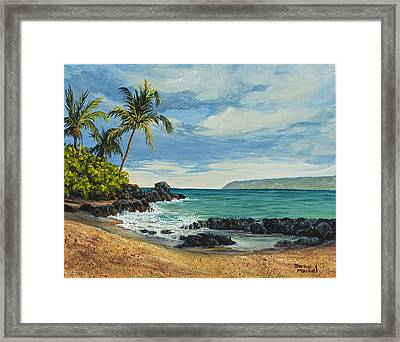 Framed Print featuring the painting Makena Beach by Darice Machel McGuire