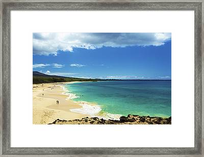 Makena Beach Lookout Framed Print by Kicka Witte