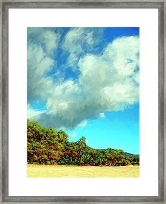 Makena Beach Maui Framed Print by Dominic Piperata