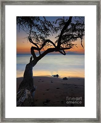 Makena Breeze Framed Print by Mike  Dawson