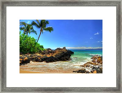 Makena Secret Cove Framed Print by Kelly Wade