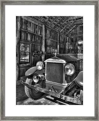 Maker's Mark Firehouse 2 Bw Framed Print by Mel Steinhauer