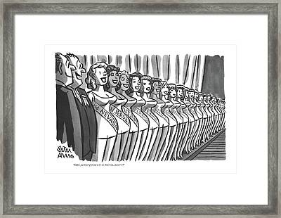 Makes You Kind Of Proud To Be An American Framed Print by Peter Arno
