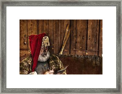 Making A List Framed Print by William Fields