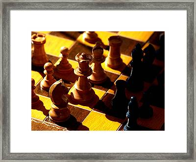 Making A Move Framed Print