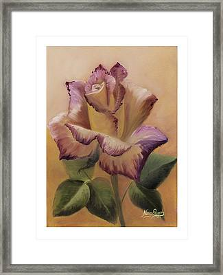 Making A Statement Framed Print by Nancy Edwards