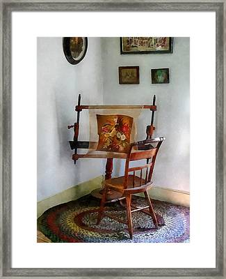 Making A Tapestry Framed Print by Susan Savad