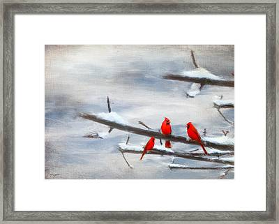 Making Acquaintances Framed Print by Lourry Legarde