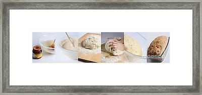 Making Bread Framed Print