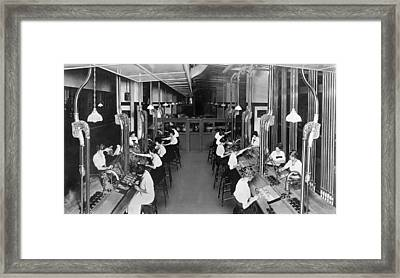 Making Department Store Change Framed Print by Underwood Archives