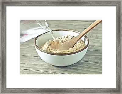 Making Dough Framed Print