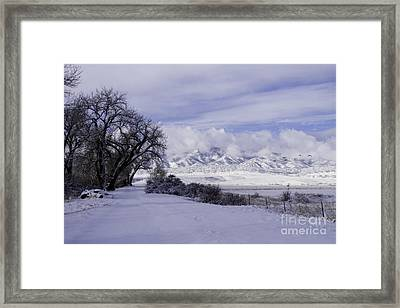 Making First Tracks Framed Print