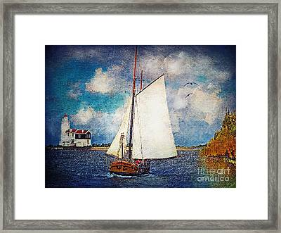 Making For Safe Harbor Framed Print