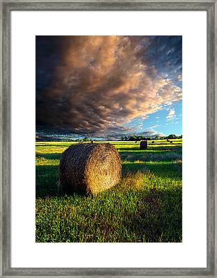 Making Hay Framed Print by Phil Koch