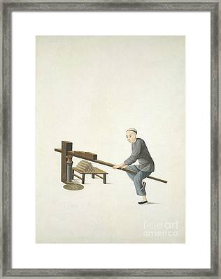 Making Incense, 19th-century China Framed Print