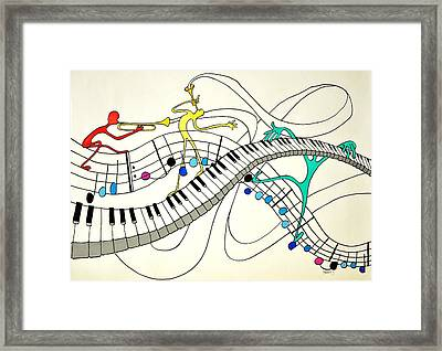 Making Music Framed Print by Glenn Calloway