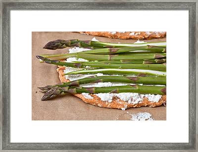 Making Pizza Framed Print by Tom Gowanlock