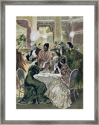 Making Predictions In A Caf� Framed Print
