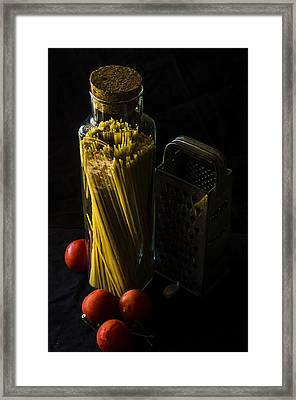 Making Spaghetti Framed Print by Camille Lopez