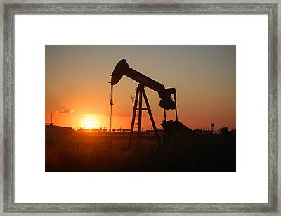 Making Tea At Sunset 2 Framed Print