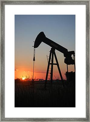 Making Tea At Sunset Framed Print