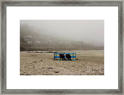 Making The Most Of Their Holiday Framed Print by Terri Waters