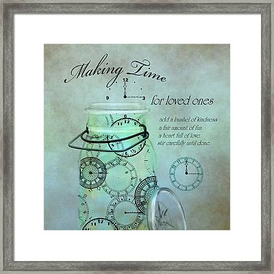 Making Time Framed Print by Robin-Lee Vieira
