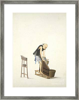 Making Tobacco, 19th-century China Framed Print