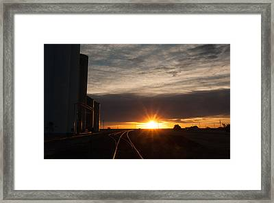 Tracking The Light Framed Print by Shirley Heier