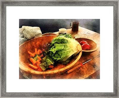 Making Waldorf Salad Framed Print by Susan Savad