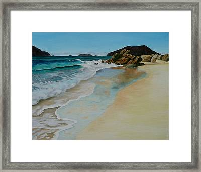Framed Print featuring the painting Making Waves by Jo Appleby