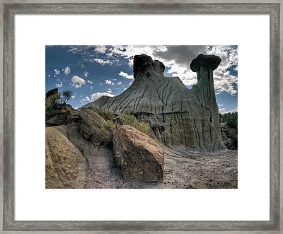 Makoshika State Park 4 Framed Print by Leland D Howard