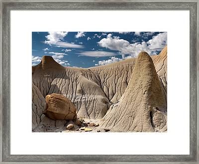 Makoshika State Park 5 Framed Print by Leland D Howard