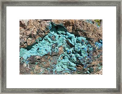 Malachite And Azurite Framed Print by Science Photo Library