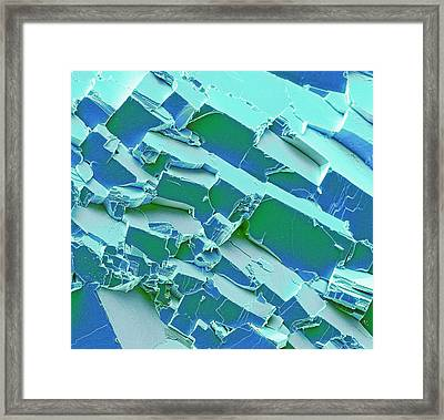 Malachite Framed Print by Steve Gschmeissner