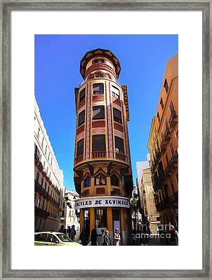 Malaga Architecture Framed Print by Lutz Baar