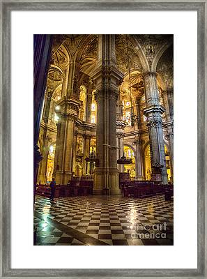 Malaga Cathedral Vi Framed Print by Rene Triay Photography