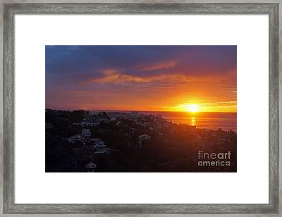 Malaga Sunrise Framed Print by Rod Jones