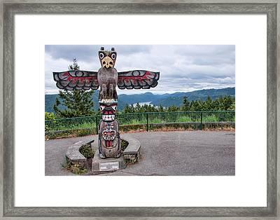 Malahat Mountain Totum Pole Framed Print