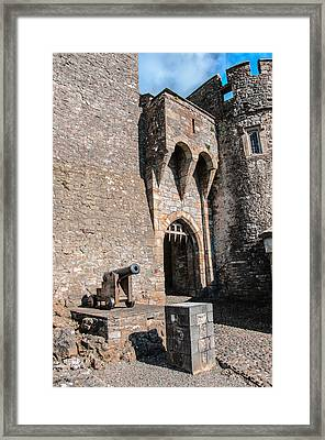 Malahide Cannon Framed Print by AMB Fine Art Photography