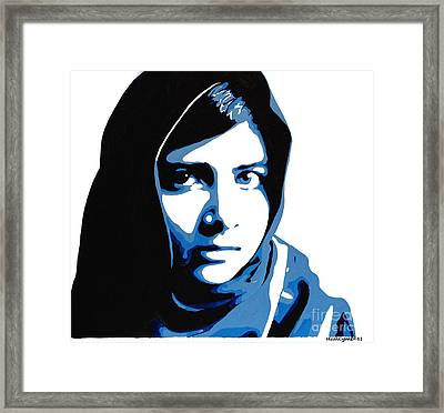 Malala Yousafzai On Friday Framed Print