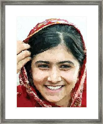 Malala Yousafzai Portrait Framed Print